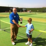 Sam receiving his trophy at the 2013 8U county championships