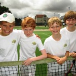 Green team after their 8-0 win over Marconi Tennis Club in the Doubles League