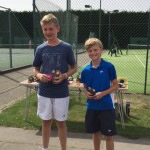 Chelmsford and District 13U consolation final played on August 1st 2015 between two of our junior members - Edward Platt (taller one) and Alex Porter. Finals were at Cranston Park. Edward won 6/2 6/1